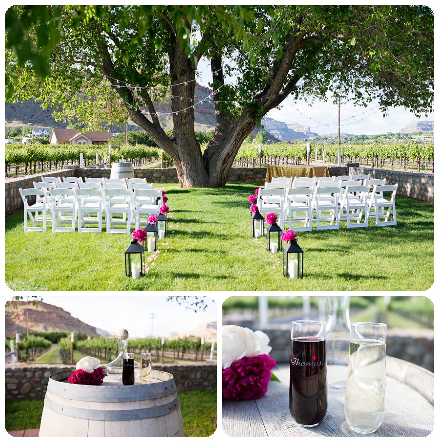 Canyon-Wind-Cellars-Wedding-Photography - Ceremony decorations