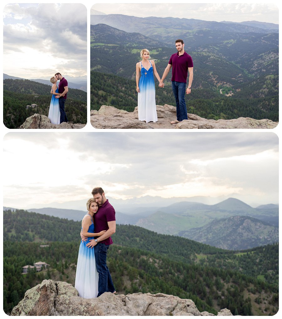 Boulder Engagement Photos Lost Gulch overlook - Ashley and Kevin