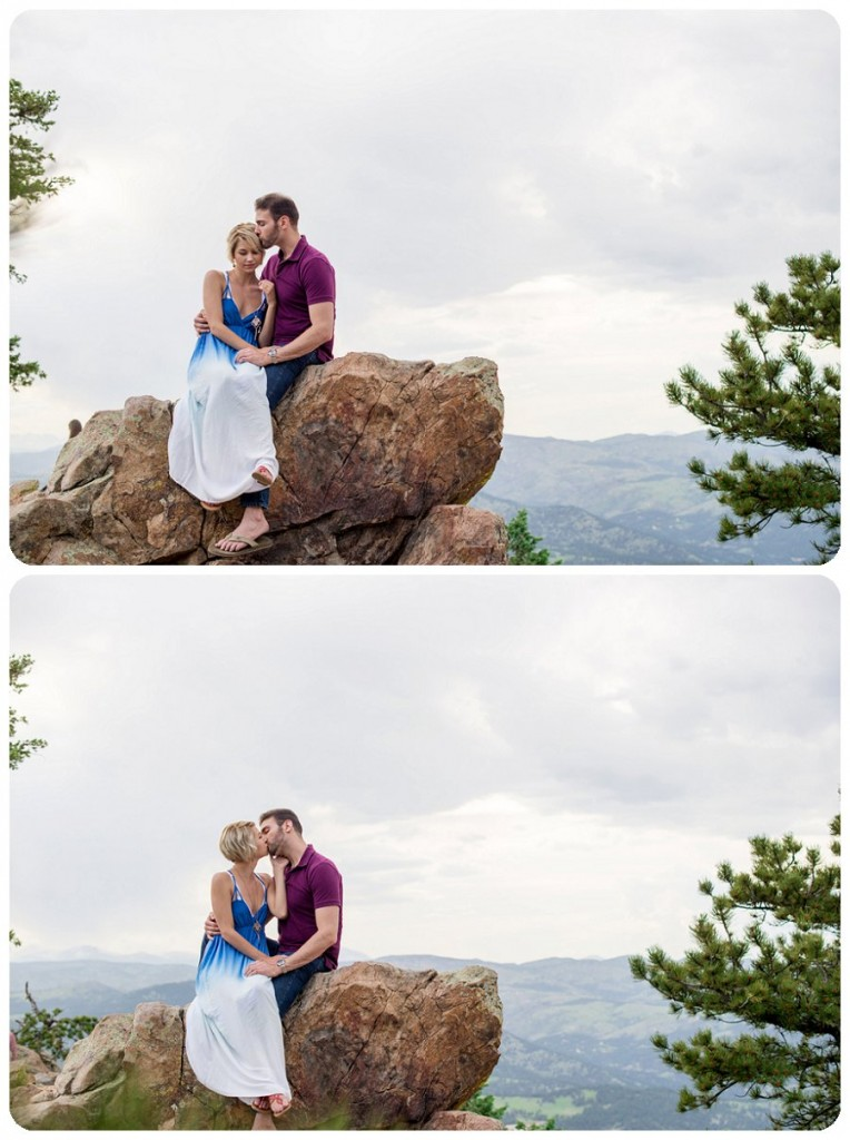 Boulder Engagement Pictures Session at Lost Gulch overlook - Ashley and Kevin