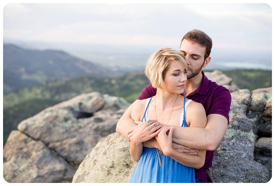 Boulder Engagement Photographer at Lost Gulch overlook - Ashley and Kevin