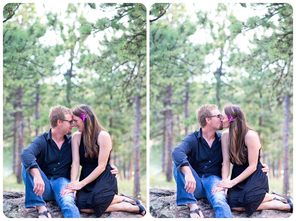 Playful Lookout Mountain Engagement Pictures