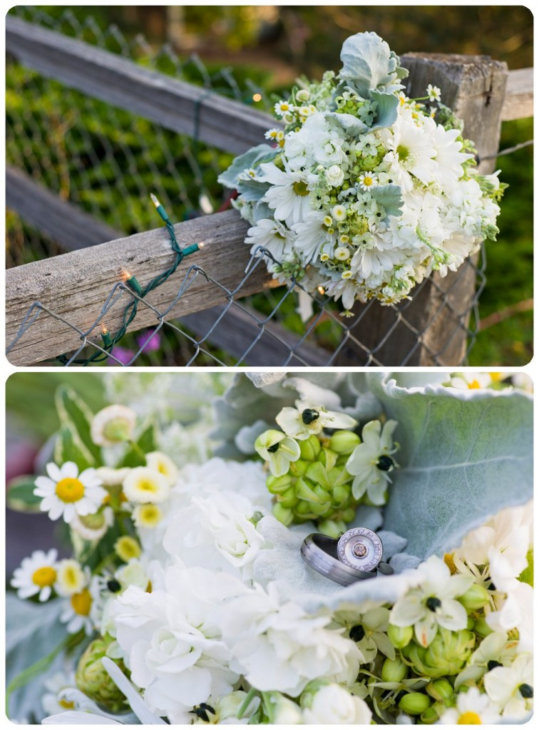 wedding bouquet and wedding ring by Rayna McGinnis Photography