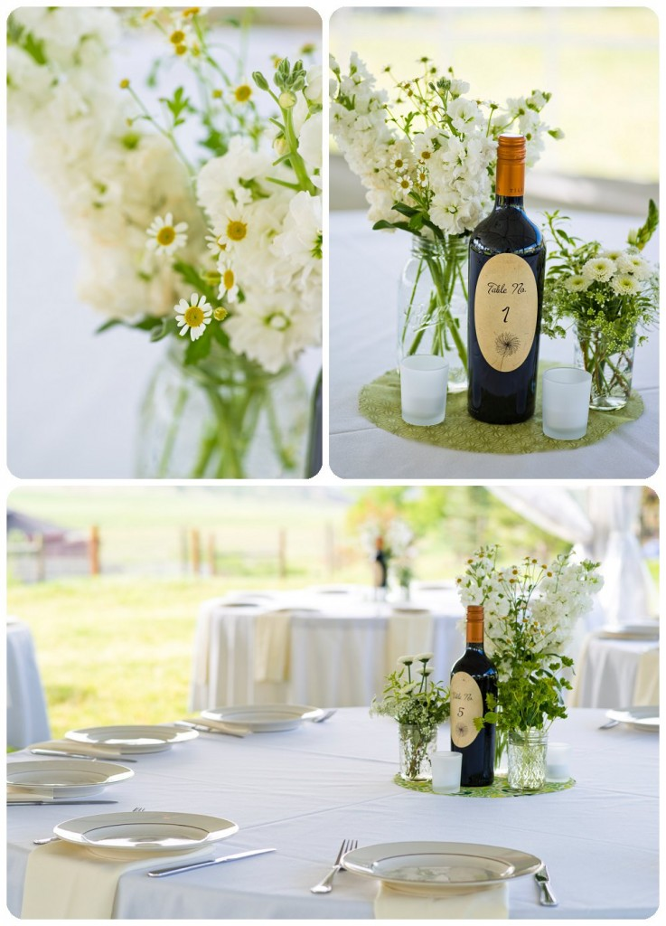 Wedding Table Details at Loveland Colorado Wedding