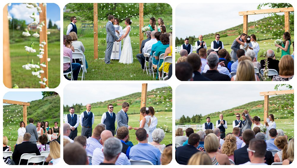 Loveland Wedding Photographer - Backyard Wedding Ceremony by Rayna McGinnis