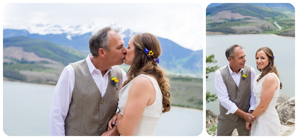 Small, intimate wedding at Sapphire Point in the Rocky Mountains of Colorado