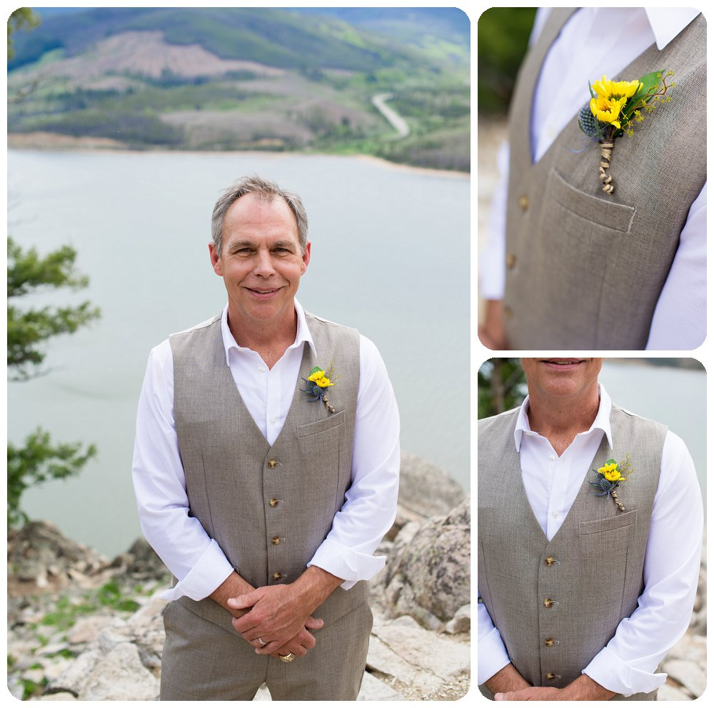 Rocky Mountain Wedding Photographer - Groom at Sapphire Point