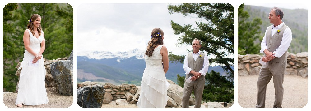 Wedding Ceremony at a Rocky Mountain Wedding at Sapphire Point