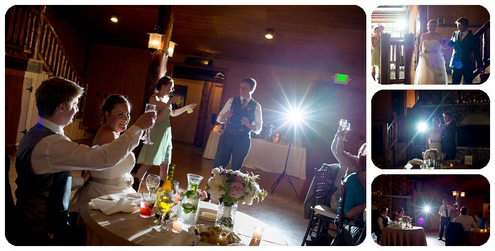 Toasts at the Spruce Mountain Ranch in Larkspur
