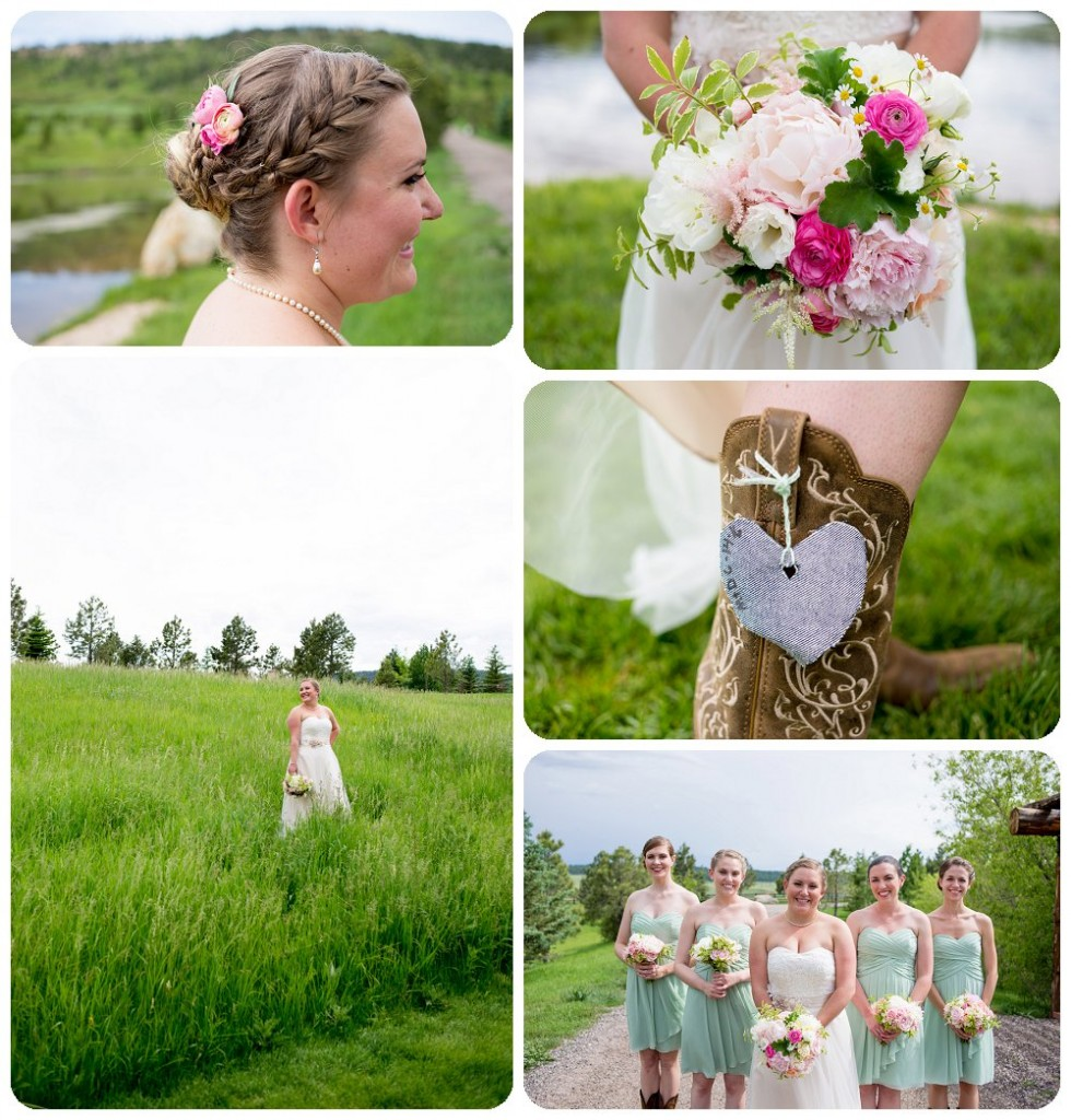 Spruce Mountain Guest Ranch Wedding Pictures - Bride and Bridesmaids