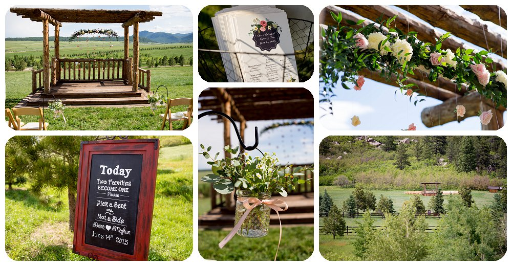 Ceremony Details at Spruce Mountain Ranch