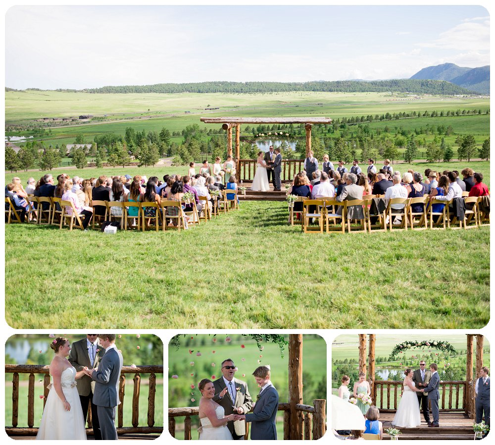 Mountainside Arbor Wedding Ceremony space at Spruce Mountain Guest Ranch