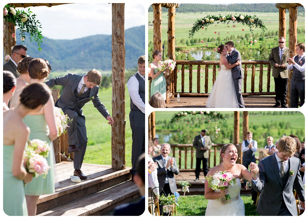 First kiss at Spruce Mountain Guest Ranch