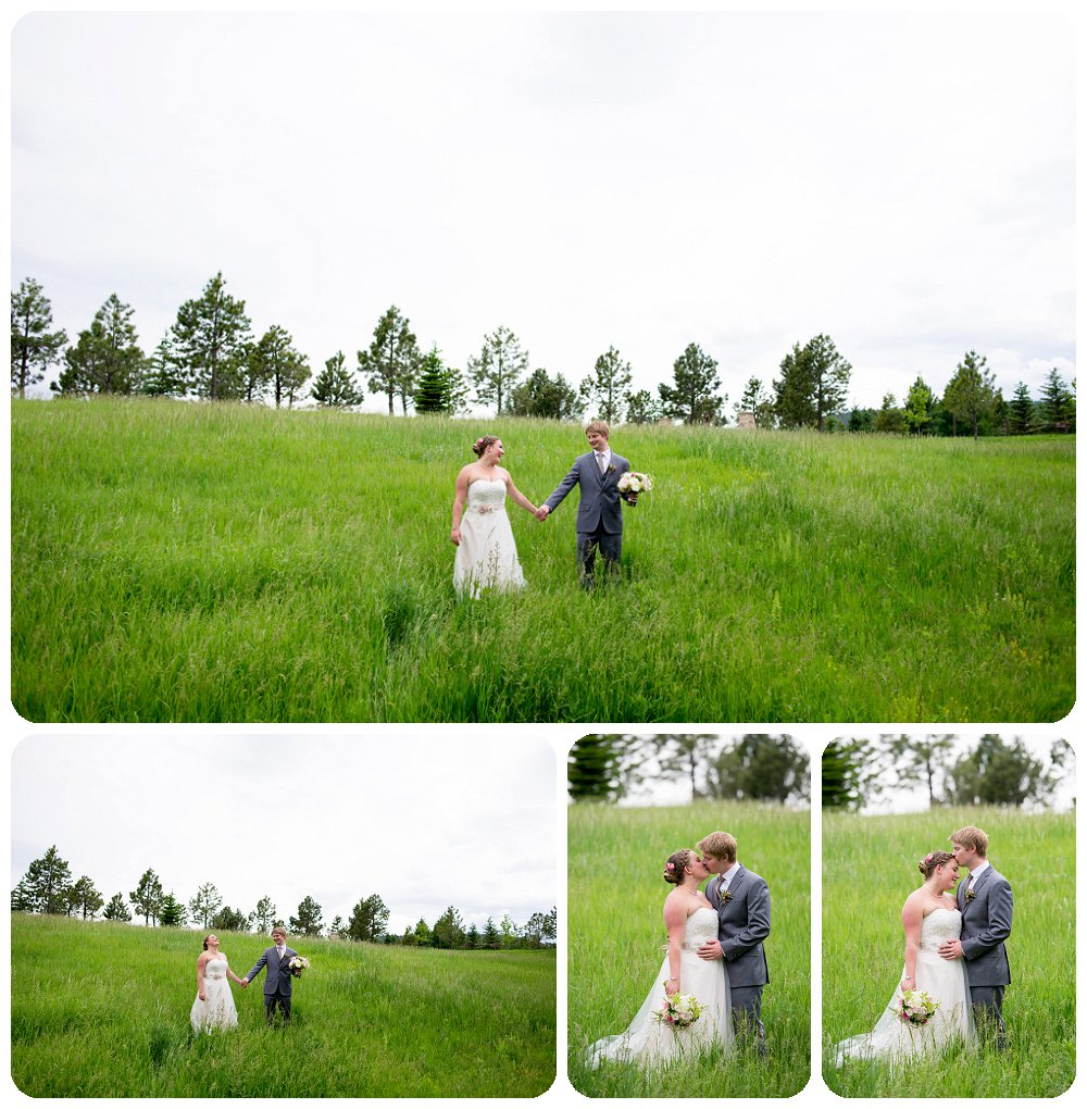 Spruce Mountain Guest Ranch Wedding Pictures - Couples portraits in the meadow