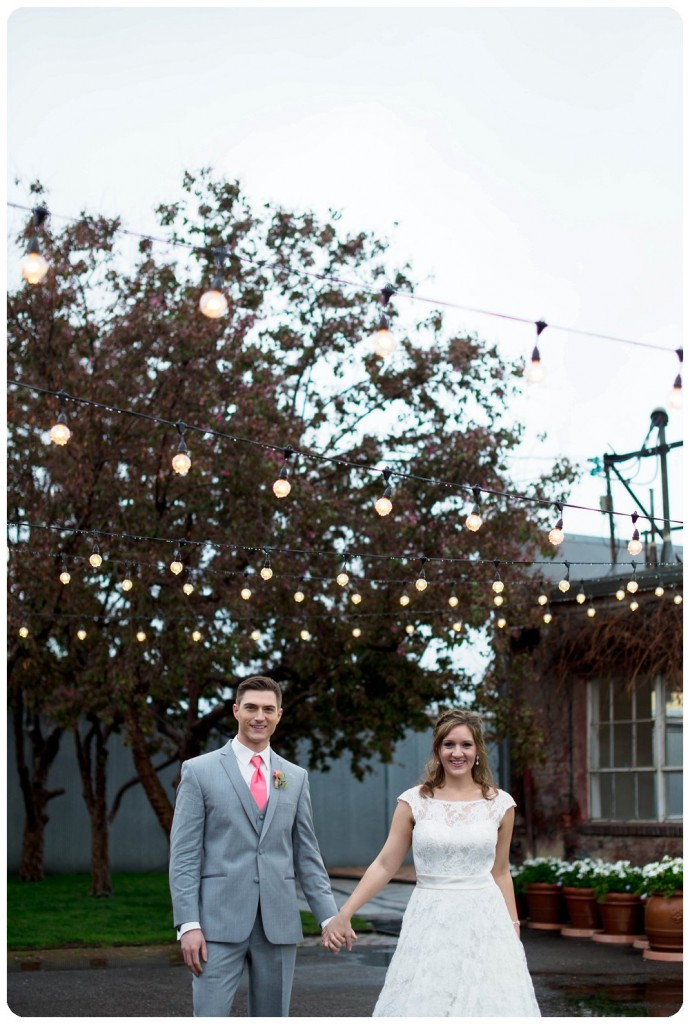 Wedding Photography on Back patio at Blanc Denver