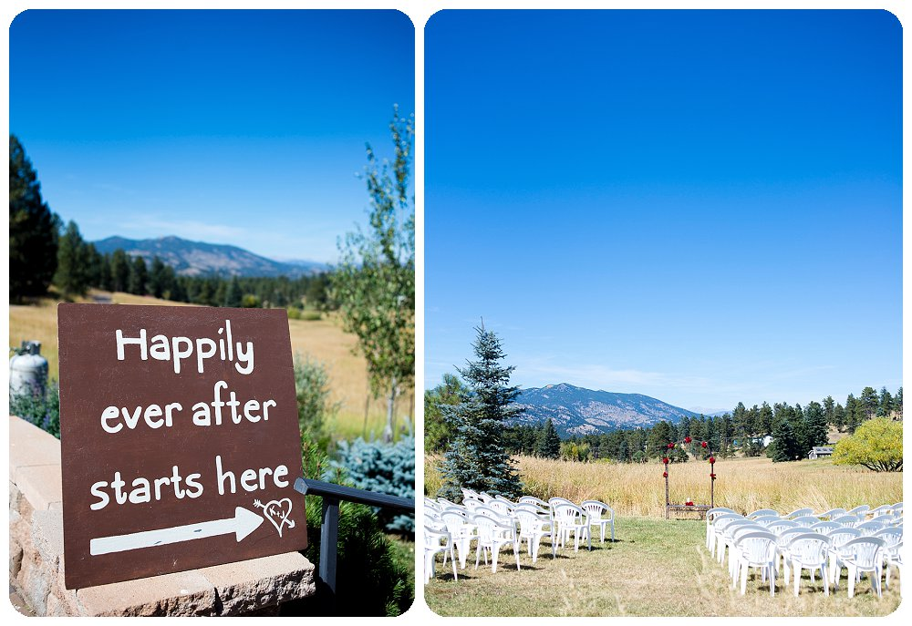 Ceremony Site and Signage at at Meadows at Marshdale