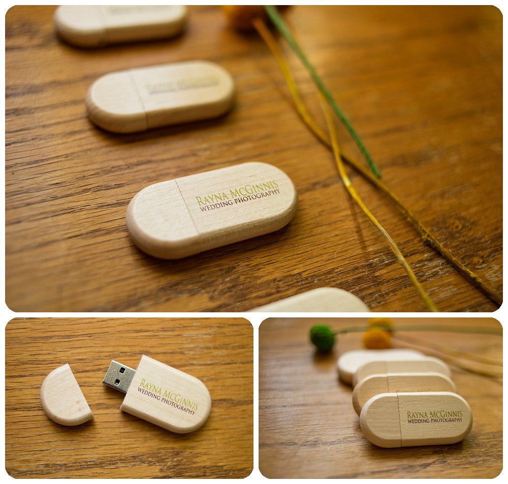 USB drives from USB memory Direct designed for Rayna McGinnis Wedding Photography