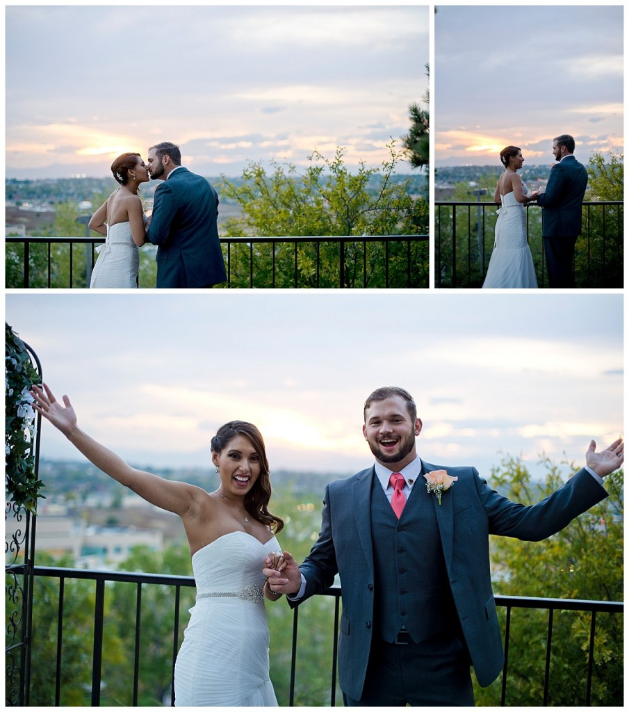 Brittany Hill Wedding Photography - Sunset photos on the back deck