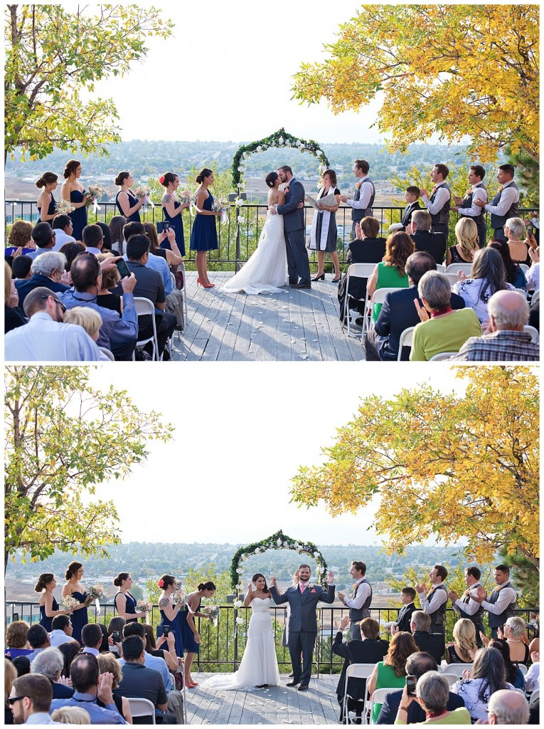 First kiss and send off at the Brittany Hill!