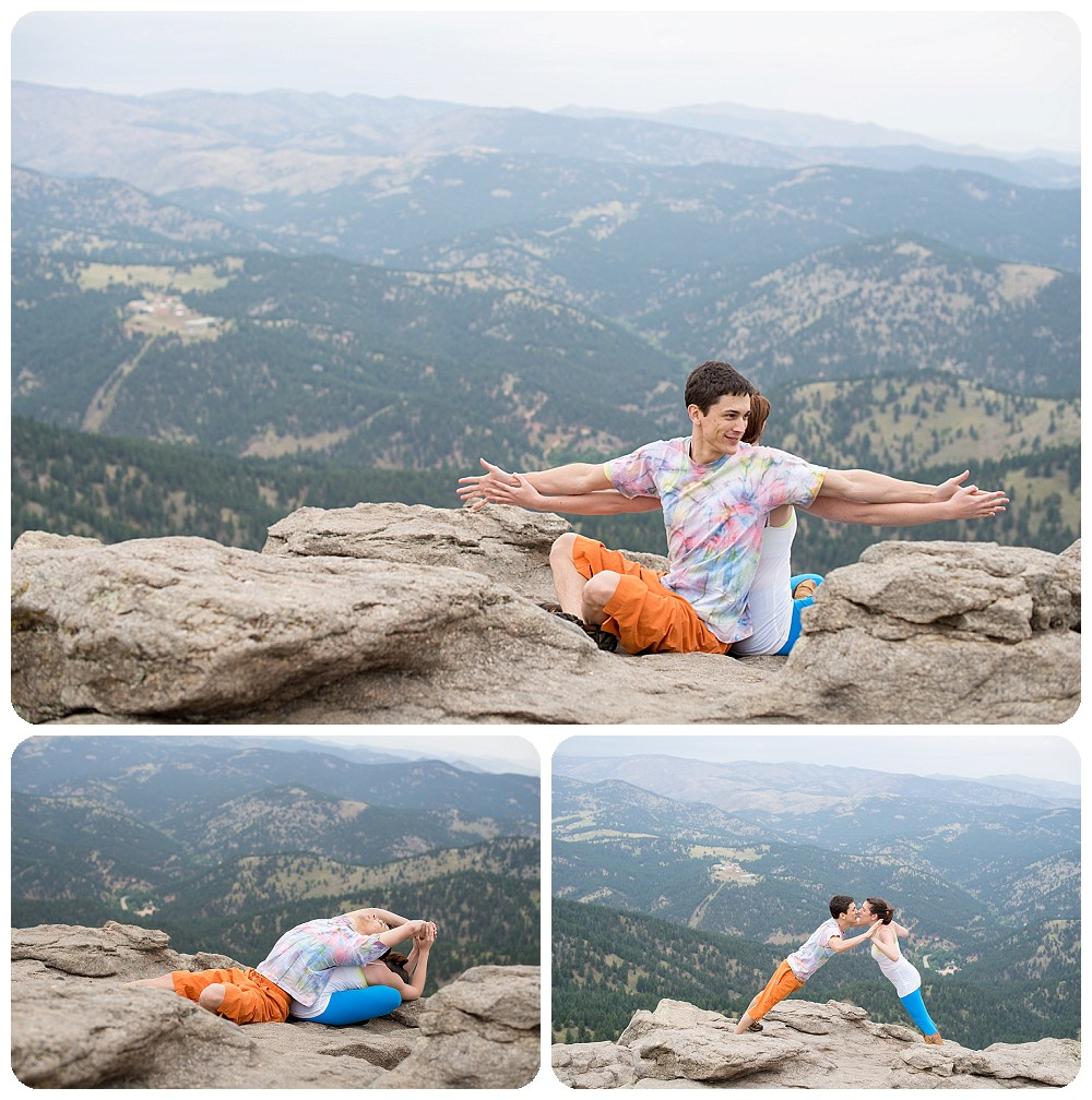 Acro Yoga Engagement at Lost Gulch Overlook in Boulder, Colorado