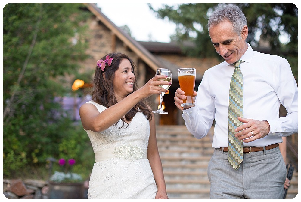 Chief Hosa Lodge Toast between bride and groom