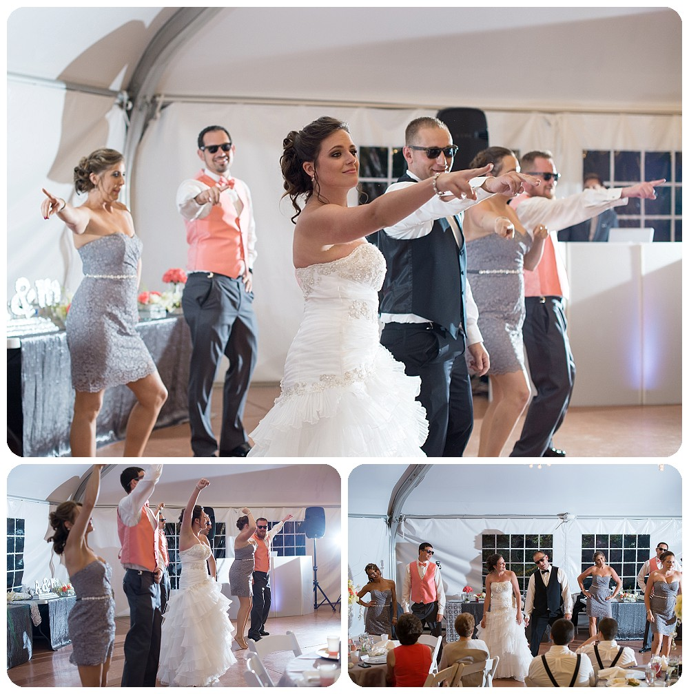 Fun bridal party at Hudson Gardens
