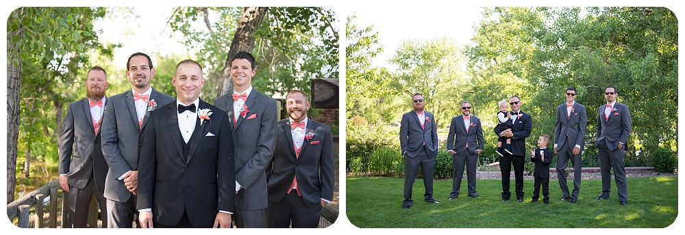 Groomsmen at Hudson Gardens