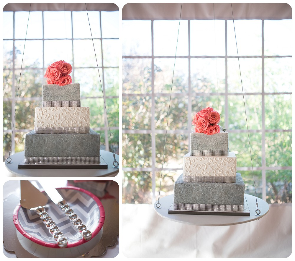 Hanging cake - Hudson Gardens Wedding Photographer