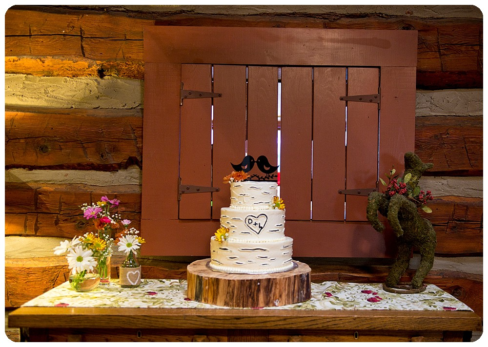 Wedding cake by the Village Patisserie in Evergreen Colorado