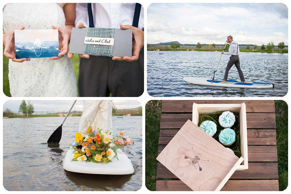 Stand Up Paddleboard Elopement at Spruce Mountain Ranch