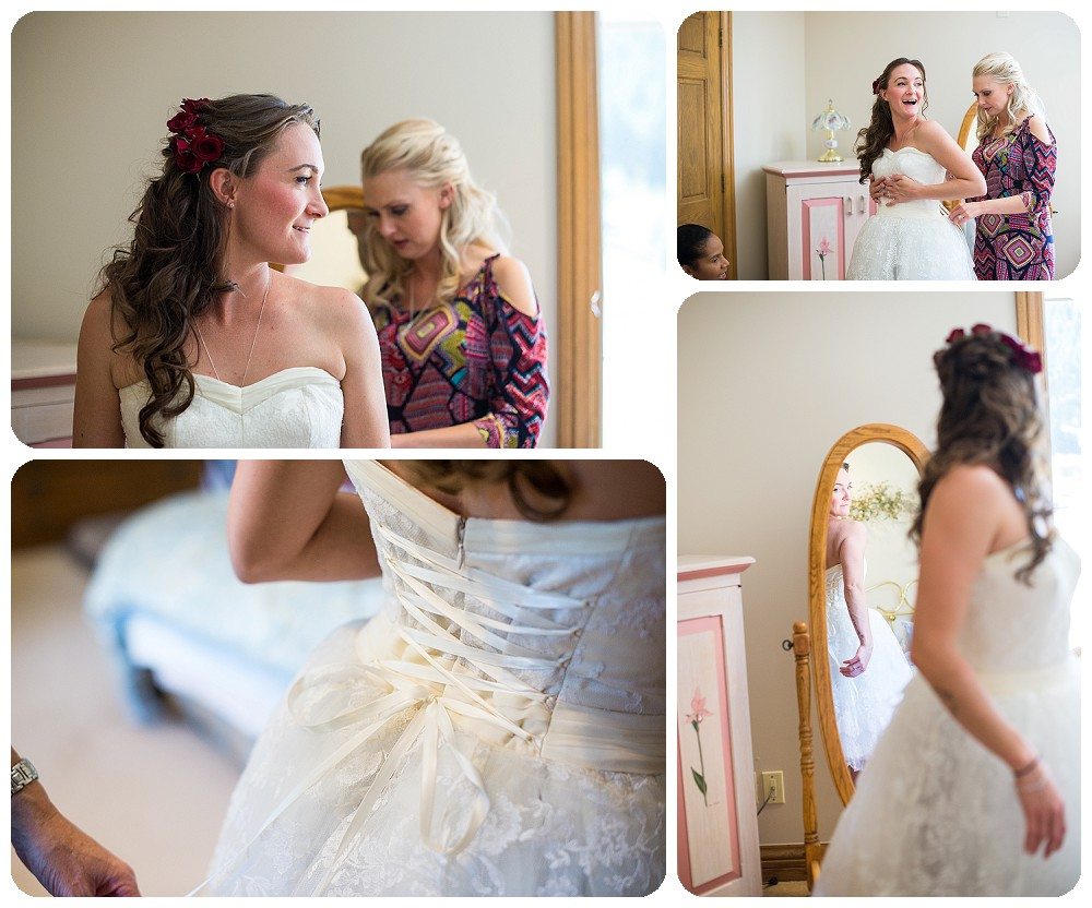 Bride getting ready at the meadows at marshdale
