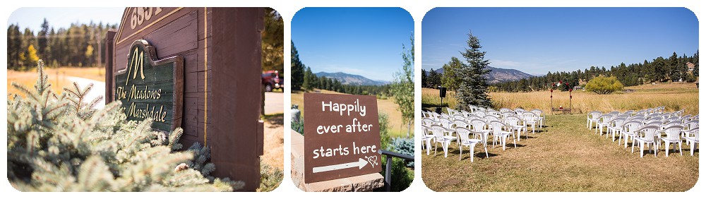 Detail signs at a wedding at Meadows at marshdale by wedding photographer, Rayna McGinnis