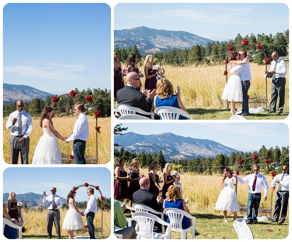Kristin and Justin's intimate wedding at the Grand Terrace of Meadows at Marshdale.