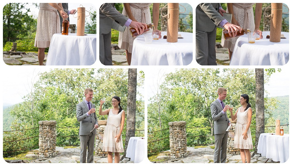 Destination wedding ceremony at the confluence resort in west virginia