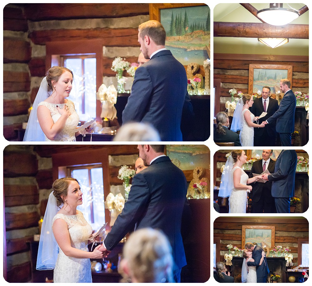 Evergreen Wedding ceremony at the highland Haven Inn