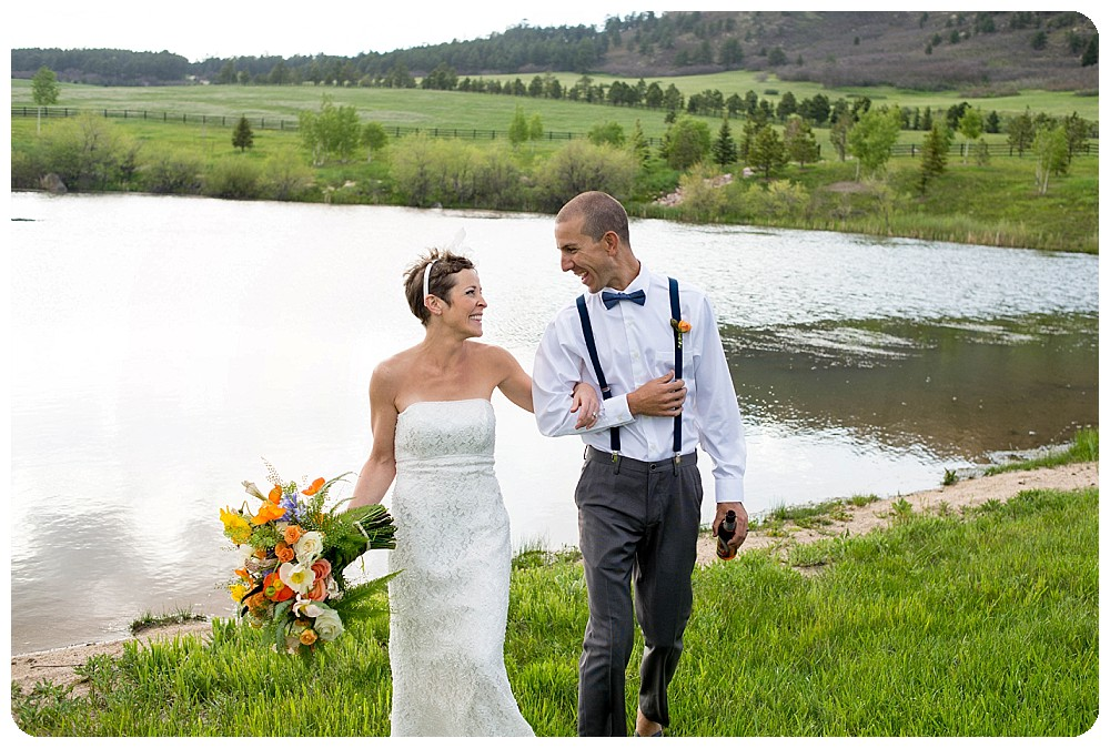 Spruce Mountain Ranch Stand Up Paddle Board Elopement