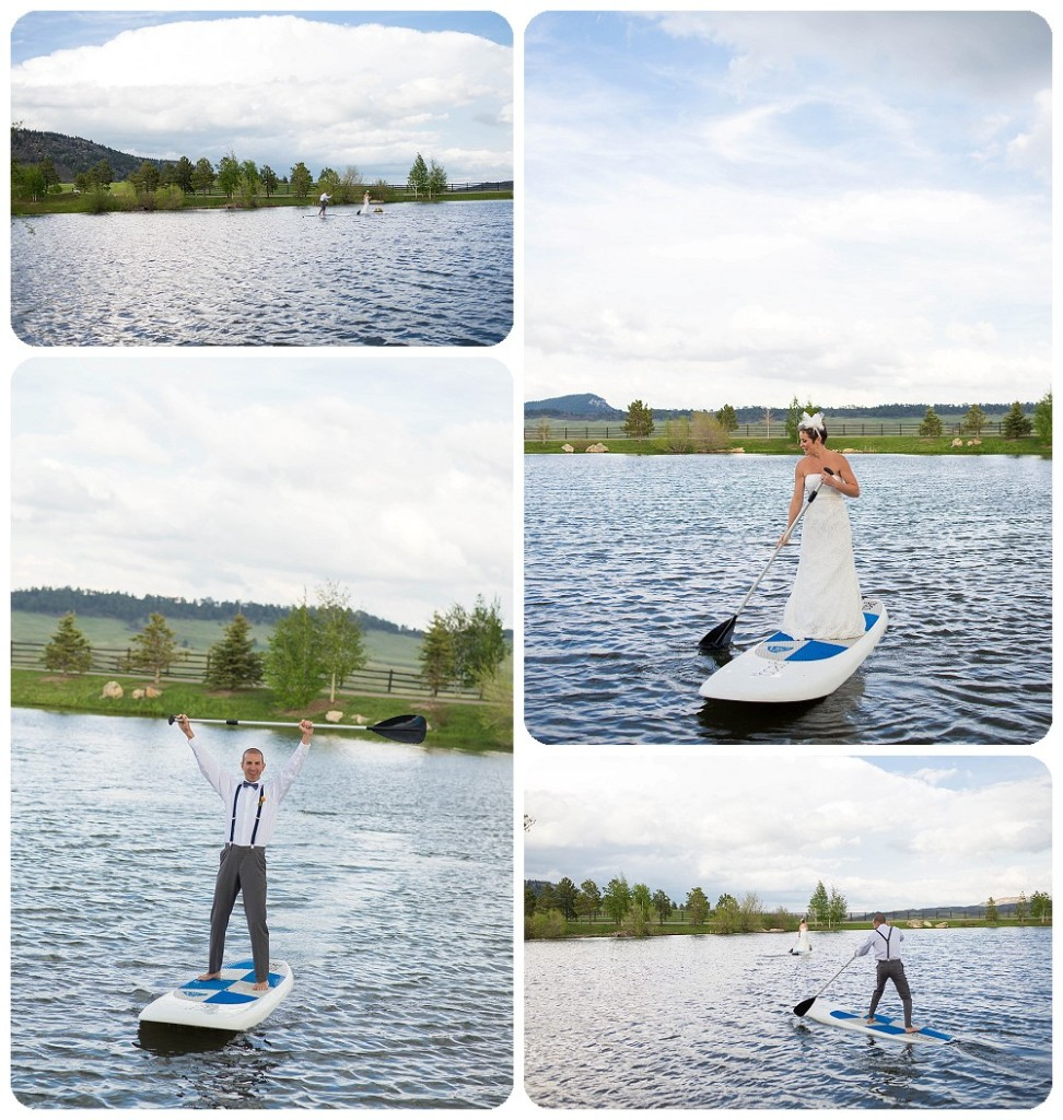 Stand Up Paddle Board Elopement at Spruce Mtn Ranch