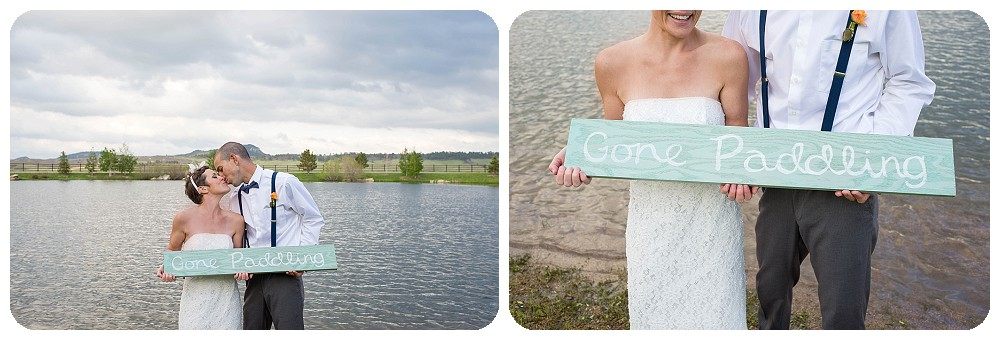 Gone Paddling Wedding Sign