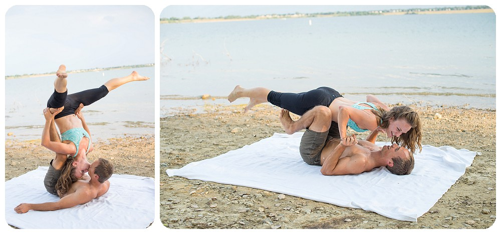 Acro Yoga Engagement Session by Rayna McGinnis photography
