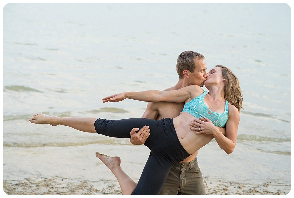 Acro Yoga Engagement Session at Standley Lake