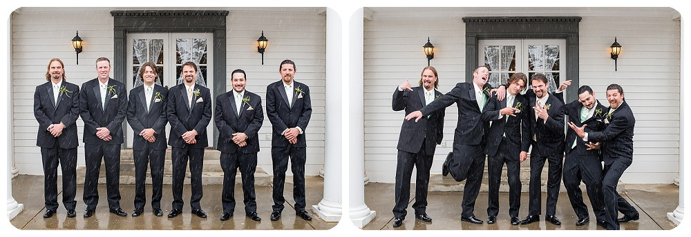 Groomsmen at a Willow Ridge Manor wedding