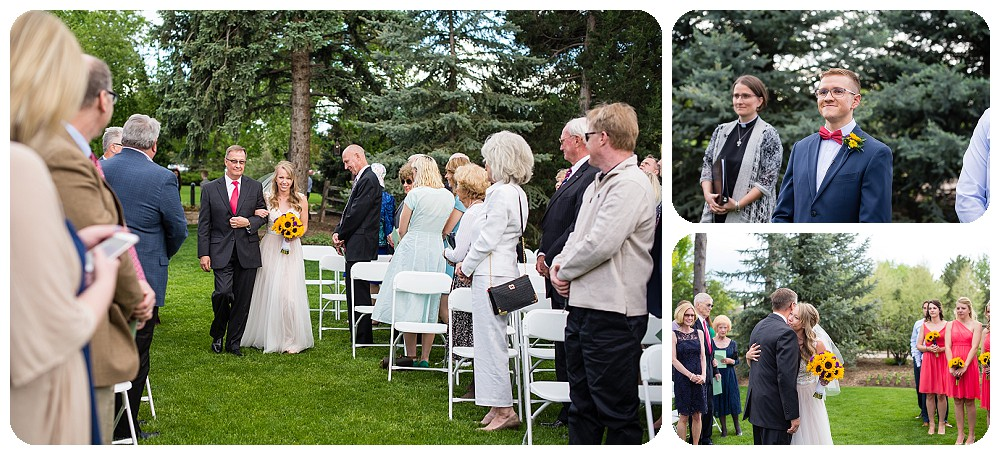 wedding ceremony at the inn at hudson gardens by rayna mcginnis photography