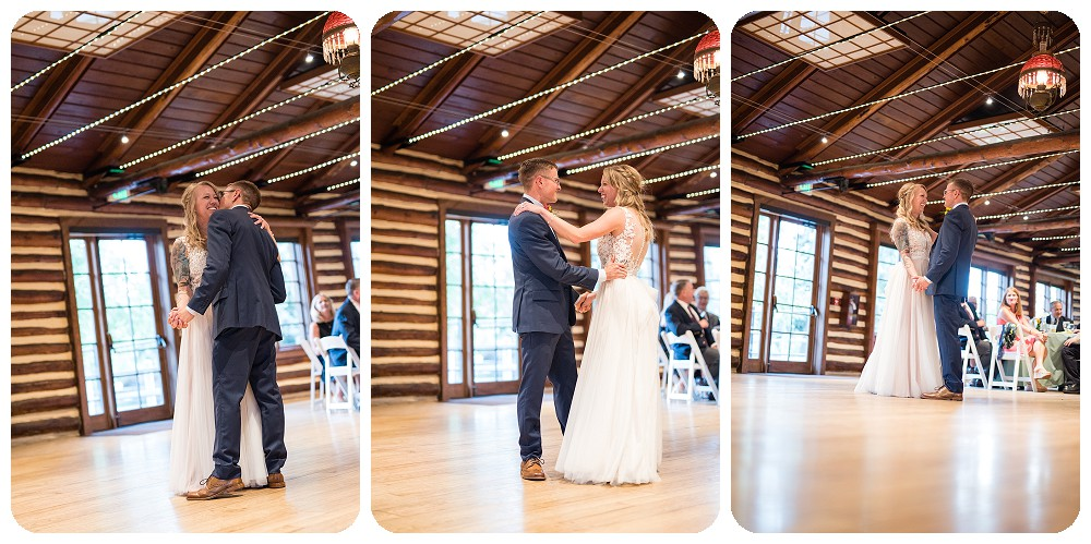 First dance inside the Inn at Hudson Gardens
