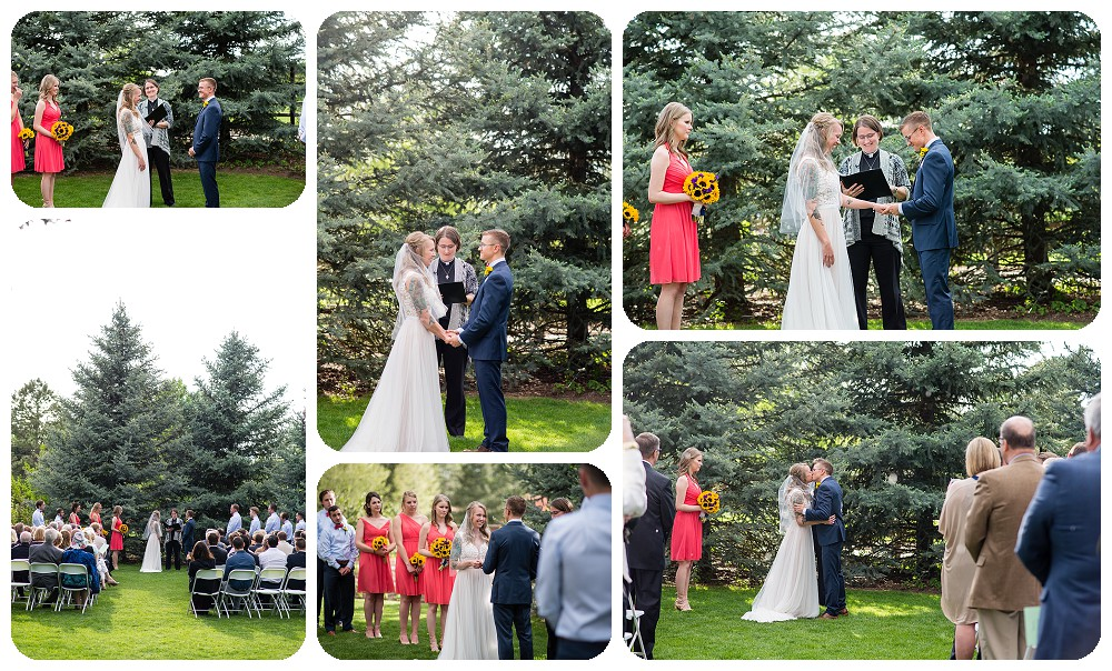 Wedding Ceremony at the Inn at Hudson Gardens in Littleton, Colorado.