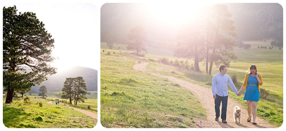 Elk Meadow Engagement Session in Evergreen Colorado