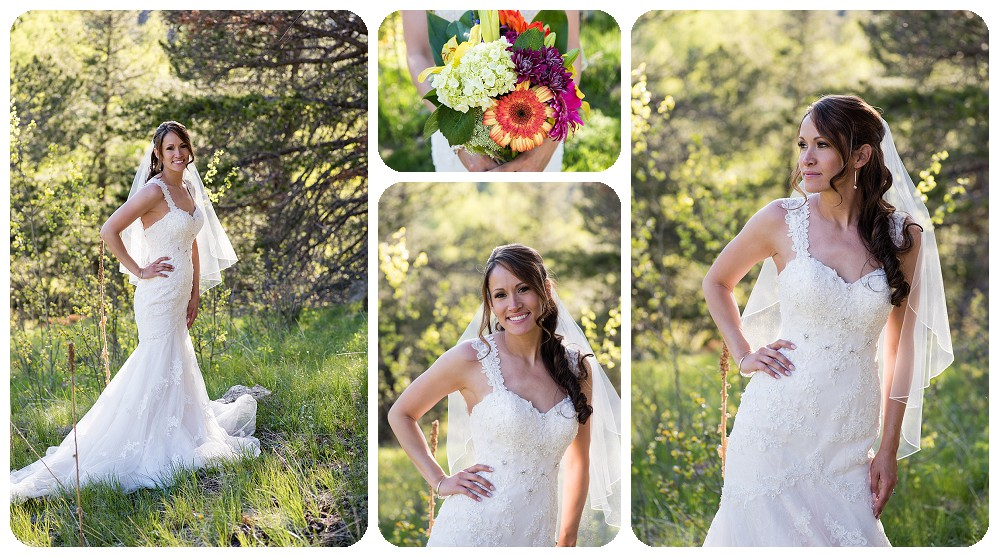Bridal Portraits in Conifer by Rayna McGinnis