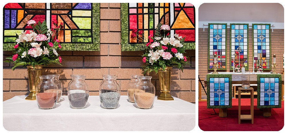 Ceremony details at Bethlehem Lutheran Church in Longmont, Colorado
