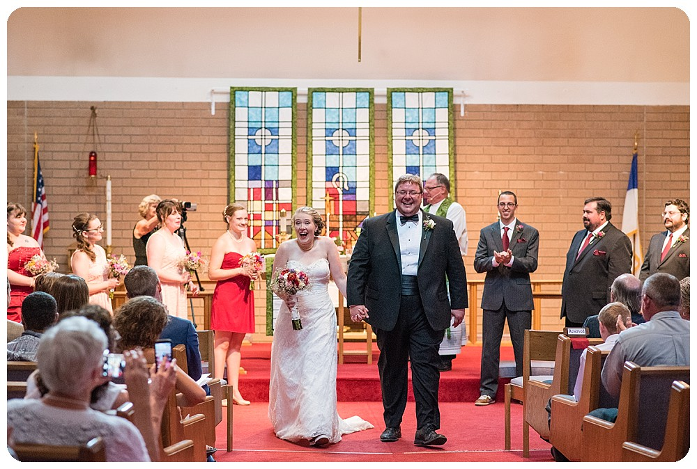Church wedding in Longmont, Colorado