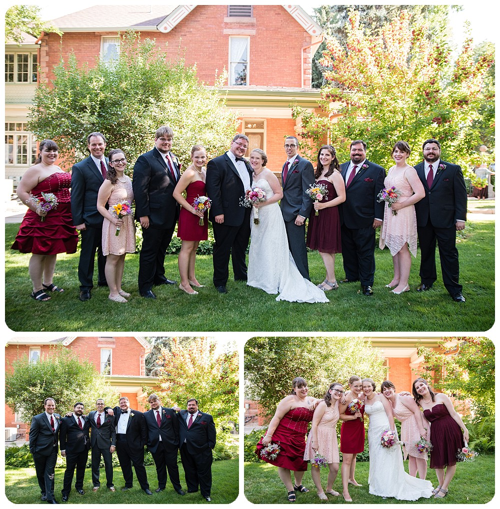 Bridal Party photos at the Callahan House Wedding