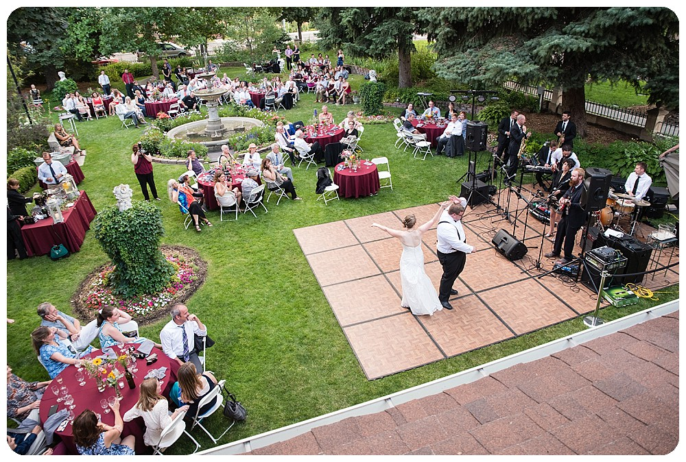 Wedding reception at a Callahan house Wedding