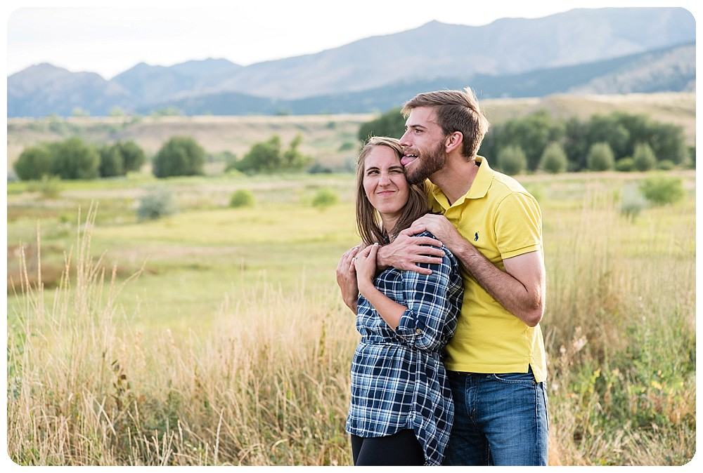 playful engagement pictures at lone hawk farm
